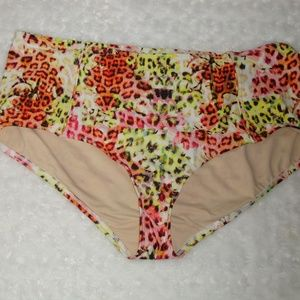 NWOT Swim by Cacique Leopard Swim Bottom Only